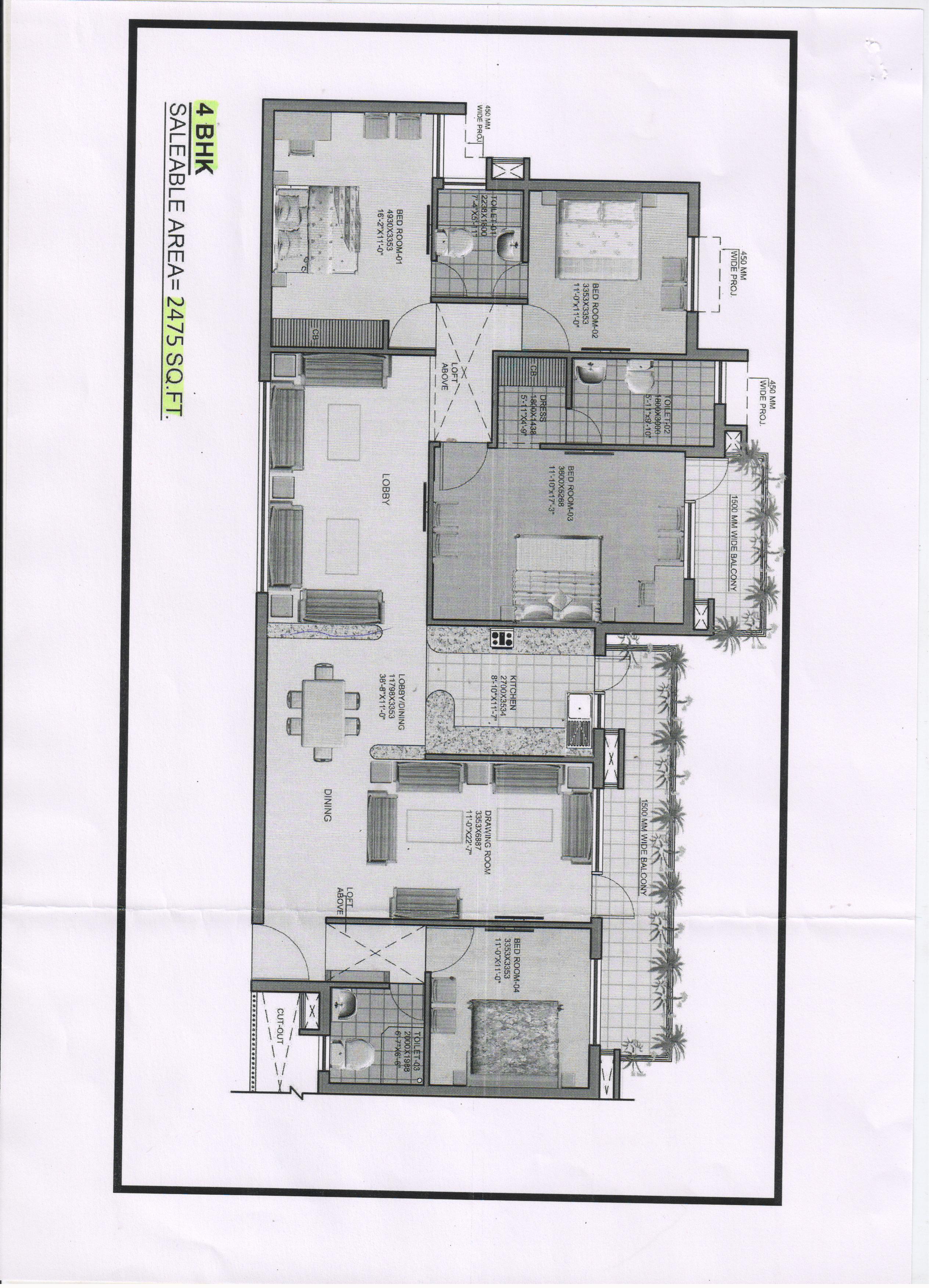 Omaxe Heights Faridabad Floor Plan